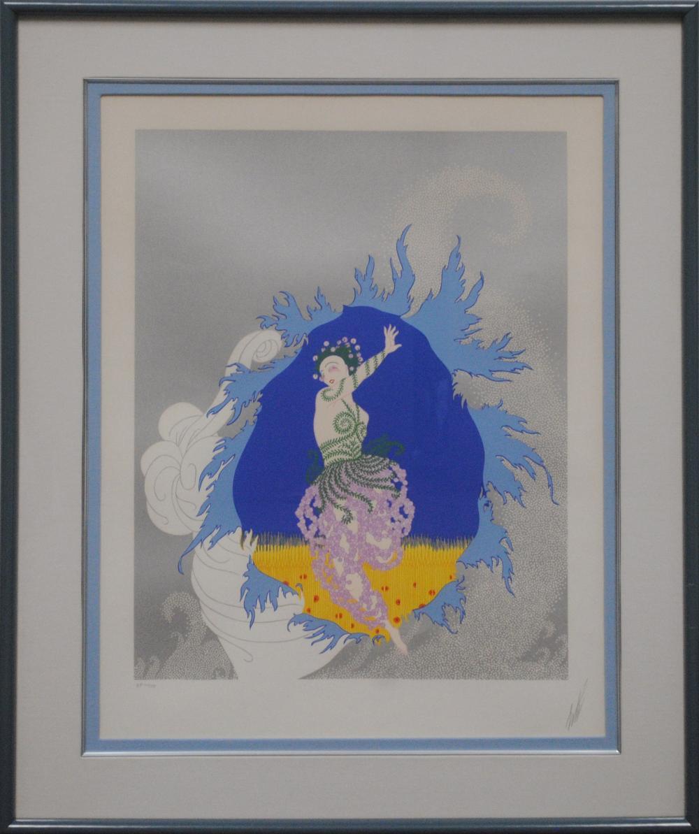 """Erte's """"Coming of Spring"""" L.E. Framed Serigraph"""