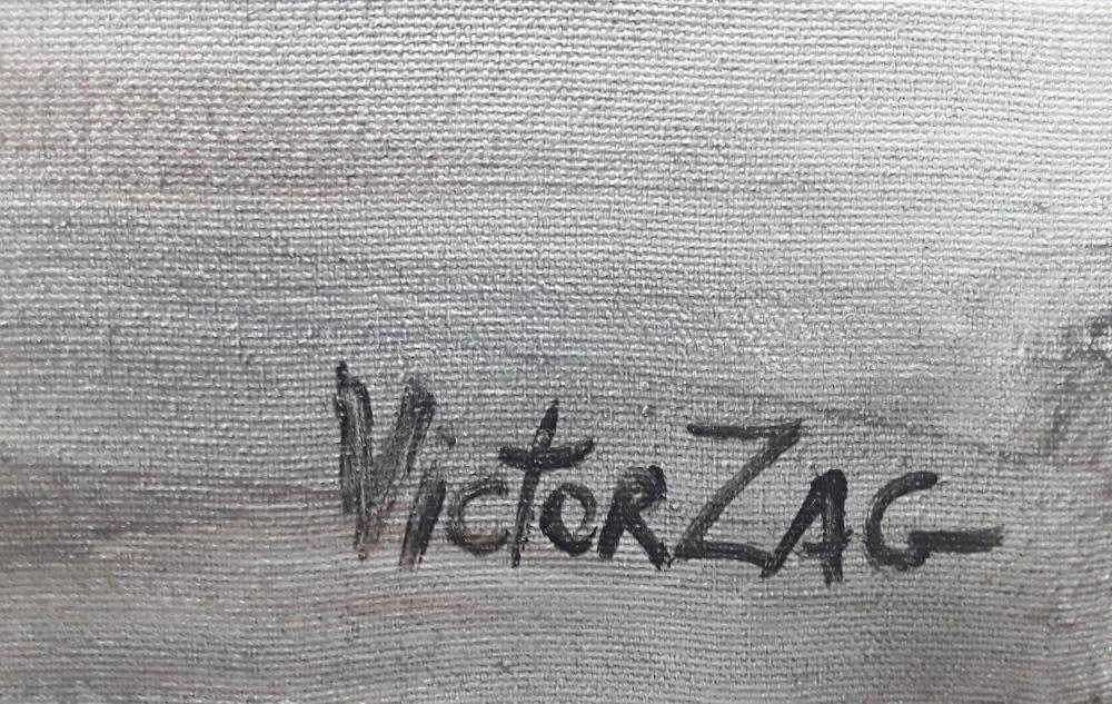 Victor Zag's Original Abstract Acrylic on Canvas Painting