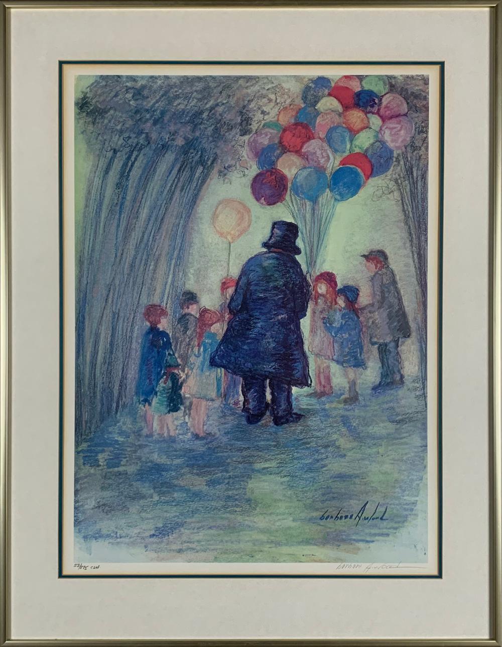 "Barbara A. Wood's ""Balloon Man 2002"" Limited Edition Print"