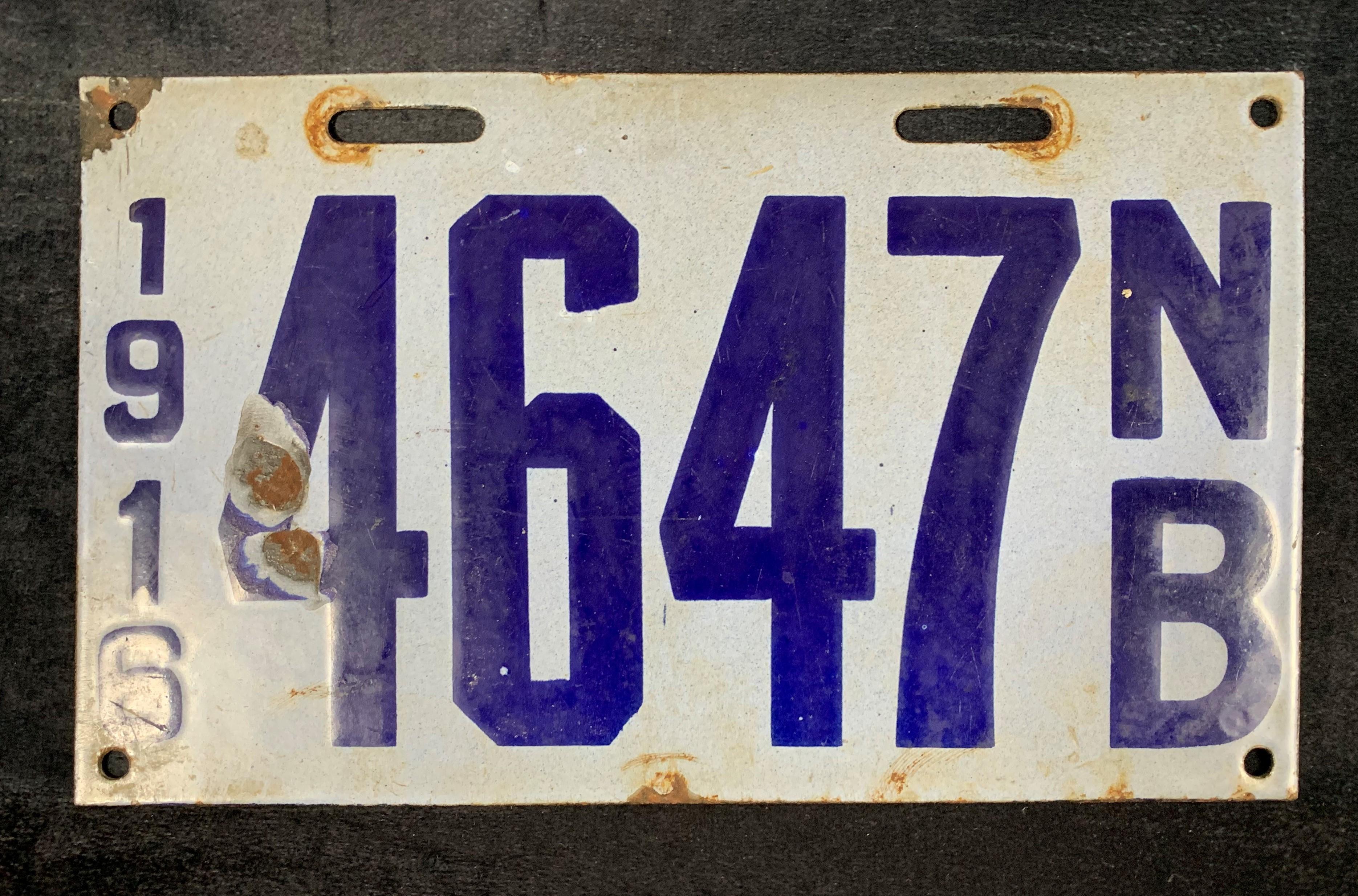 1916 New Brunswick License Plate