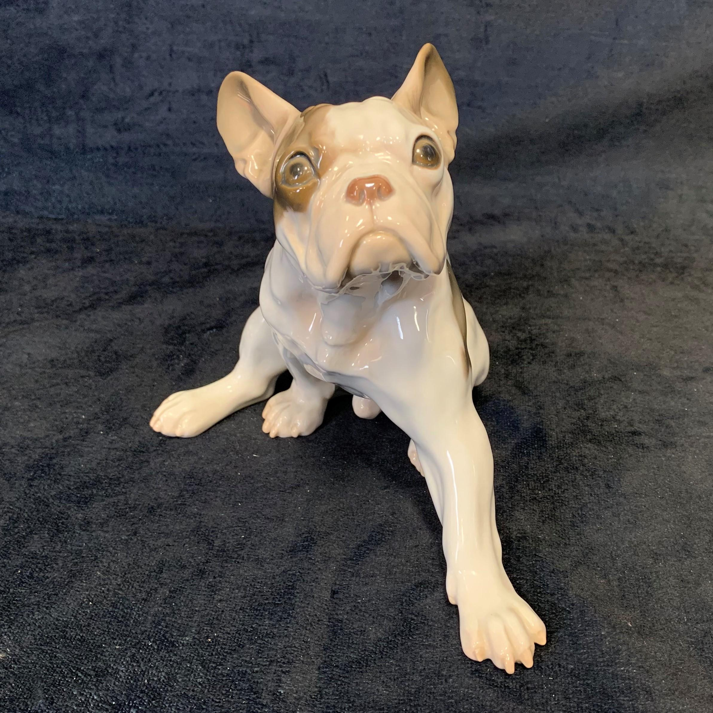 Bing & Grondahl Porcelain French Bulldog Figurine
