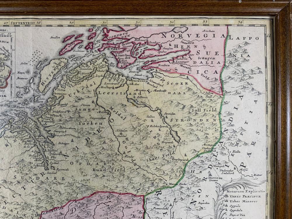 Johann Baptist Homann Rare Norway and Sweden Map