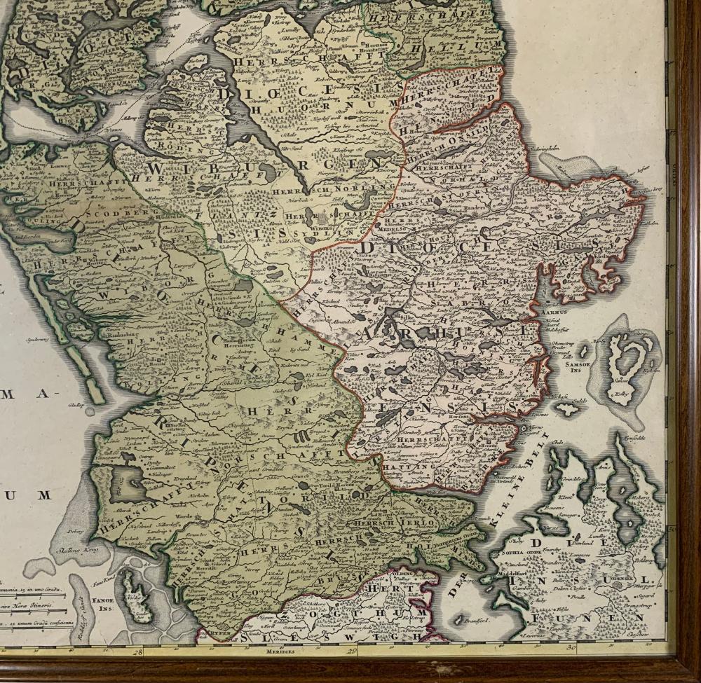 Johann Baptist Homann Rare Denmark Map