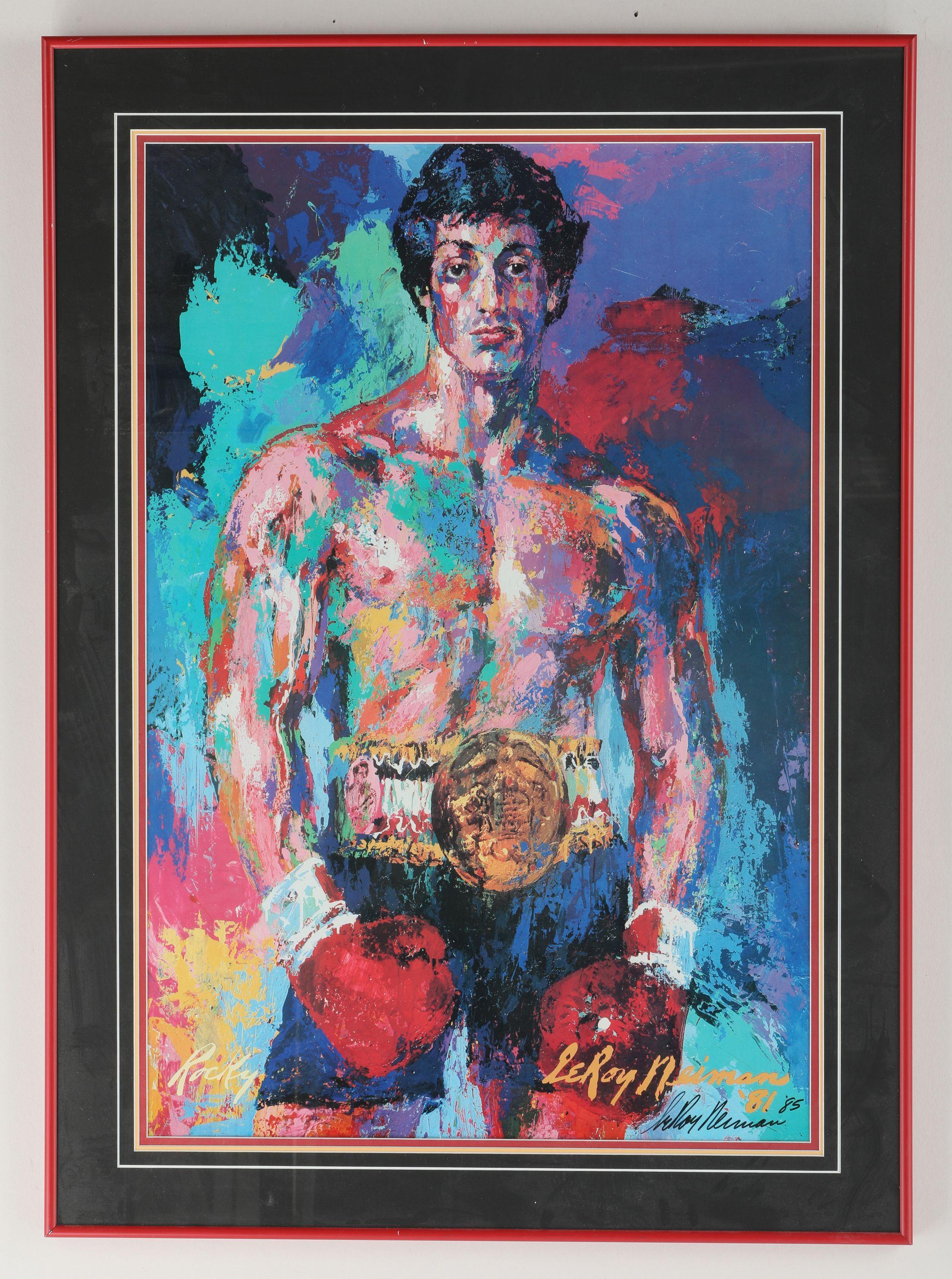 "Leroy Neiman's ""Rocky"" Signed Print"