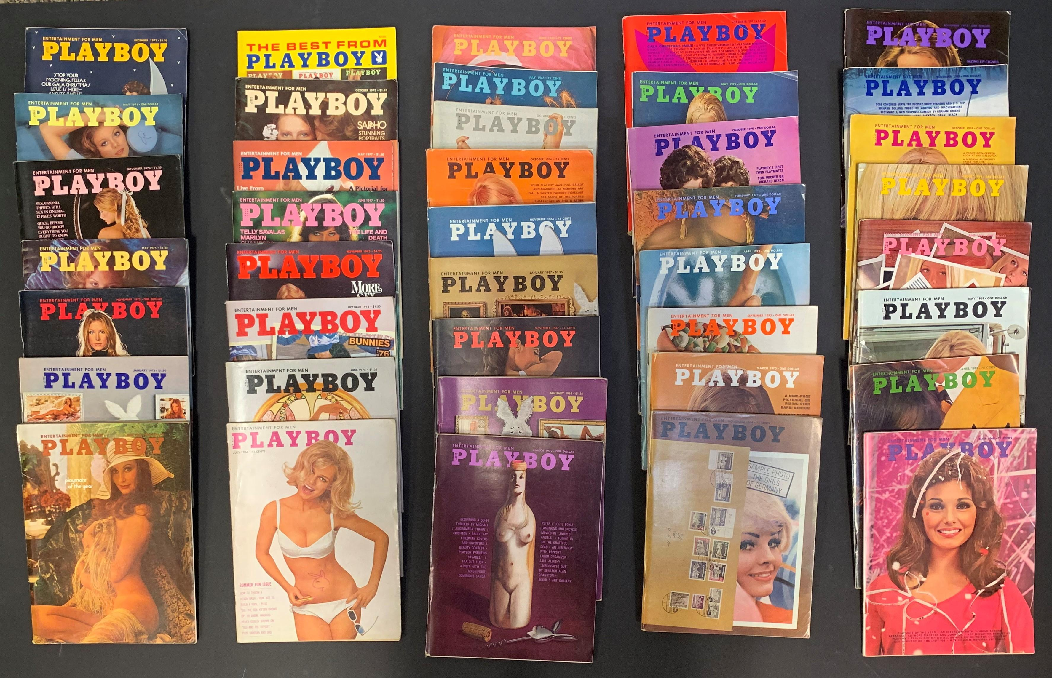 Collection of Vintage Playboy Magazines