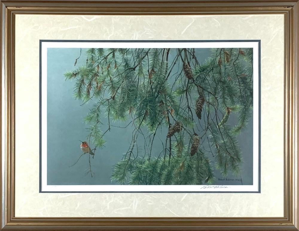 "Robert Bateman's ""Douglas Fir and Rufous Hummingbird"" LE Print"