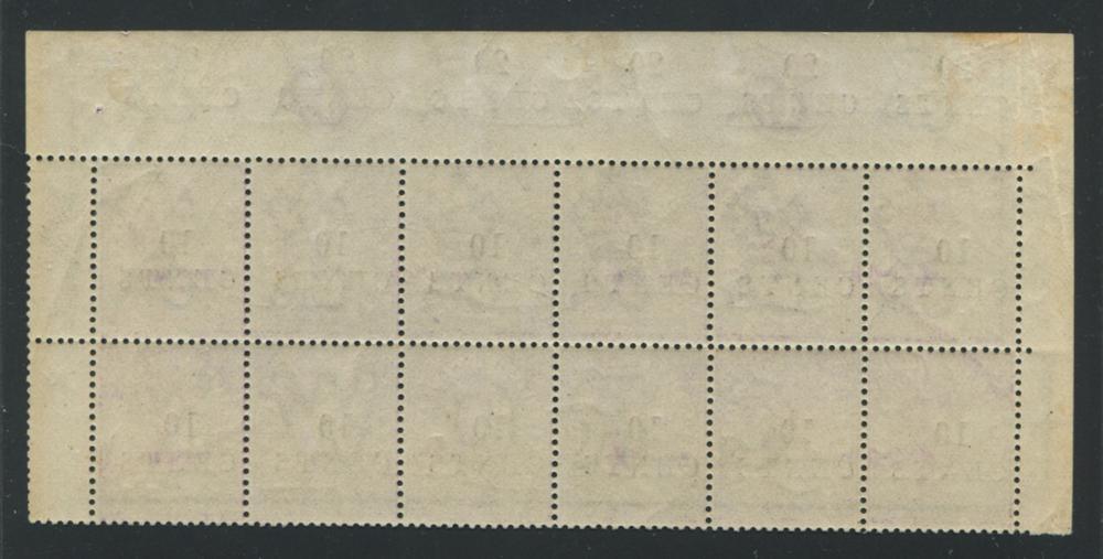 British Honduras 1888 #23 10 Cent on 4 Pence Violet Block of 12 MNH