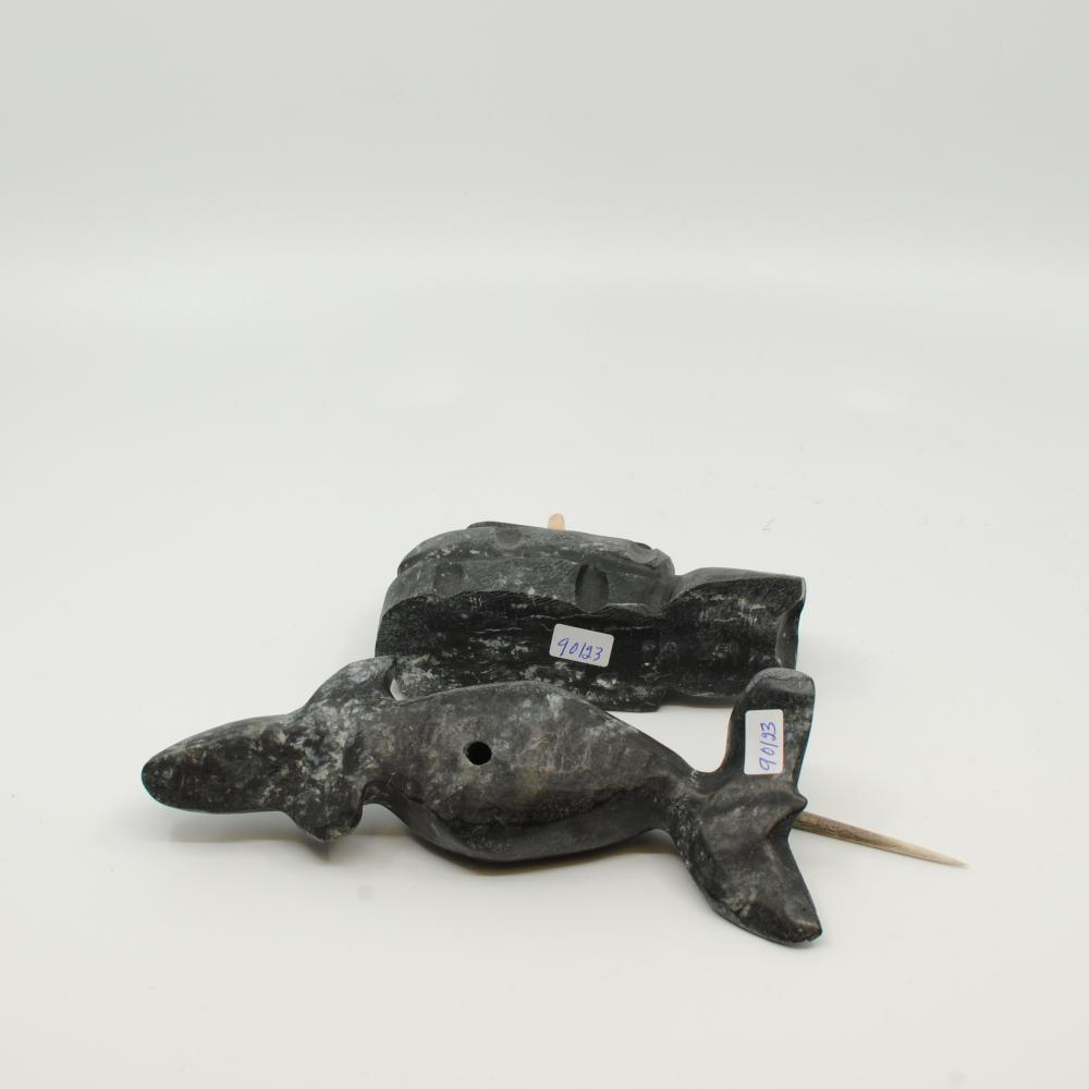 "Ernie Porter's ""Norwhale- Igloo"" Original Inuit Carving"