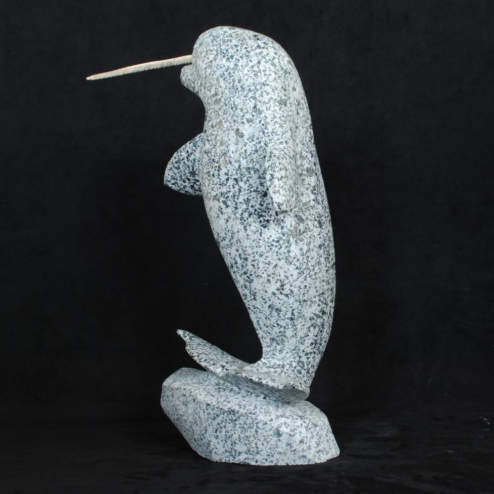 "Ann Arlooktoo's ""Norwhale"" Original Inuit Carving"