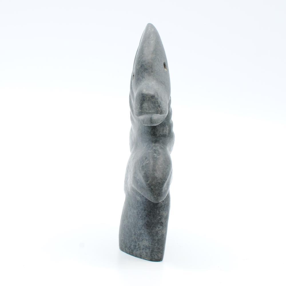 "Albert Qayutinnuaq's ""Bird Seal Spirit"" Original Inuit Carving"
