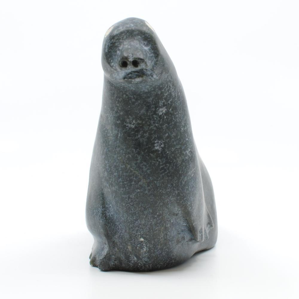 "Albert Qayutinnuaq's ""Seal"" Original Inuit Carving"