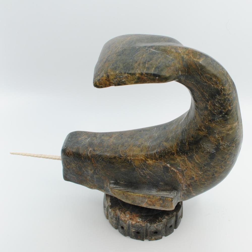 "Atiloucy Kuniliusee's ""Norwhale"" Original Inuit Carving"