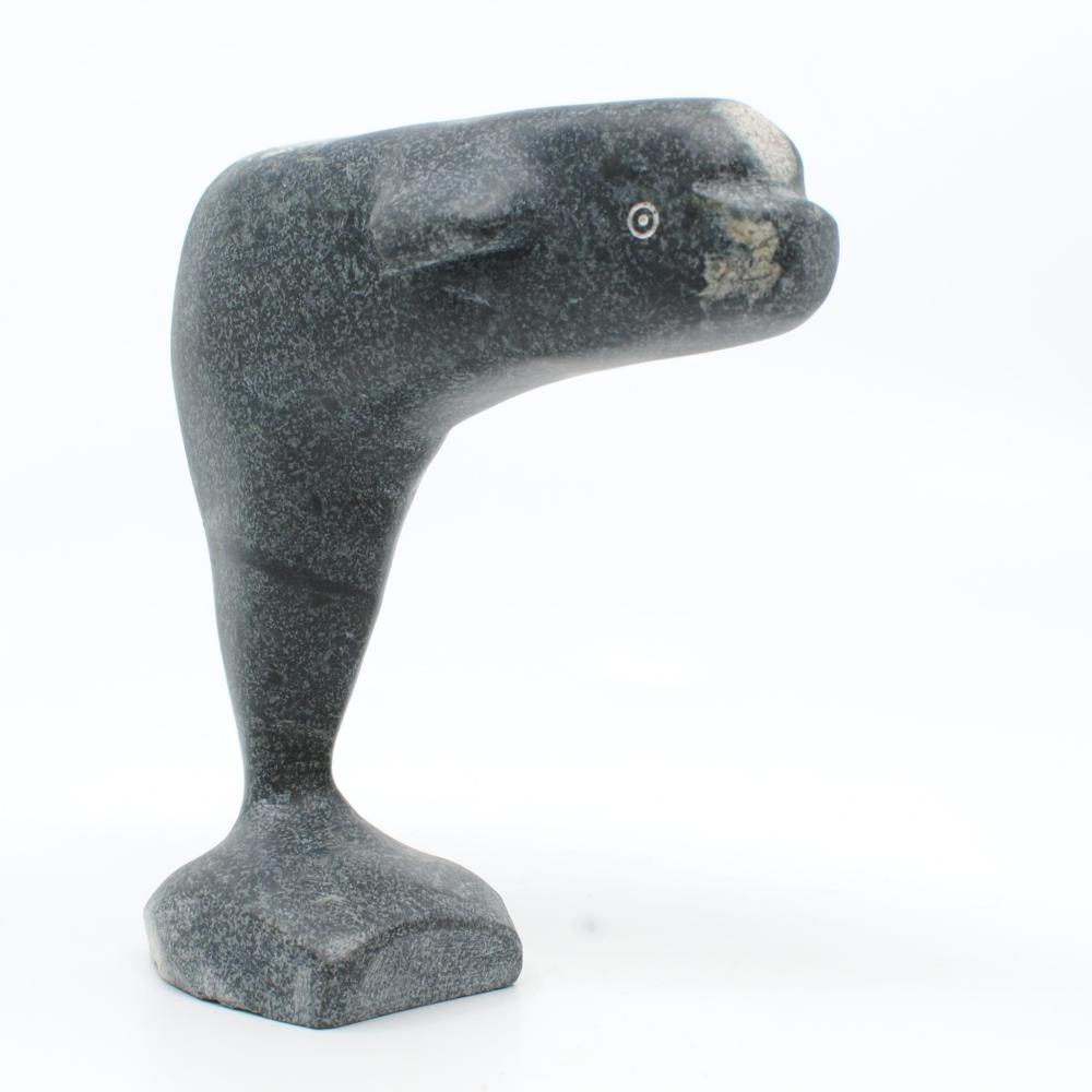 "Eddie Oleekatalik's ""Whale"" Original Inuit Carving"