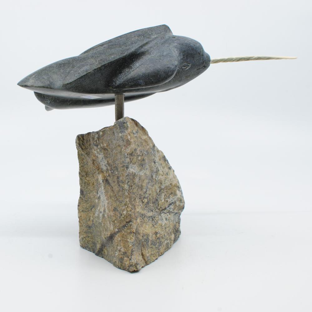 "Albert Qayutinnuaq's ""Norwhale Spirit"" Inuit Carving"