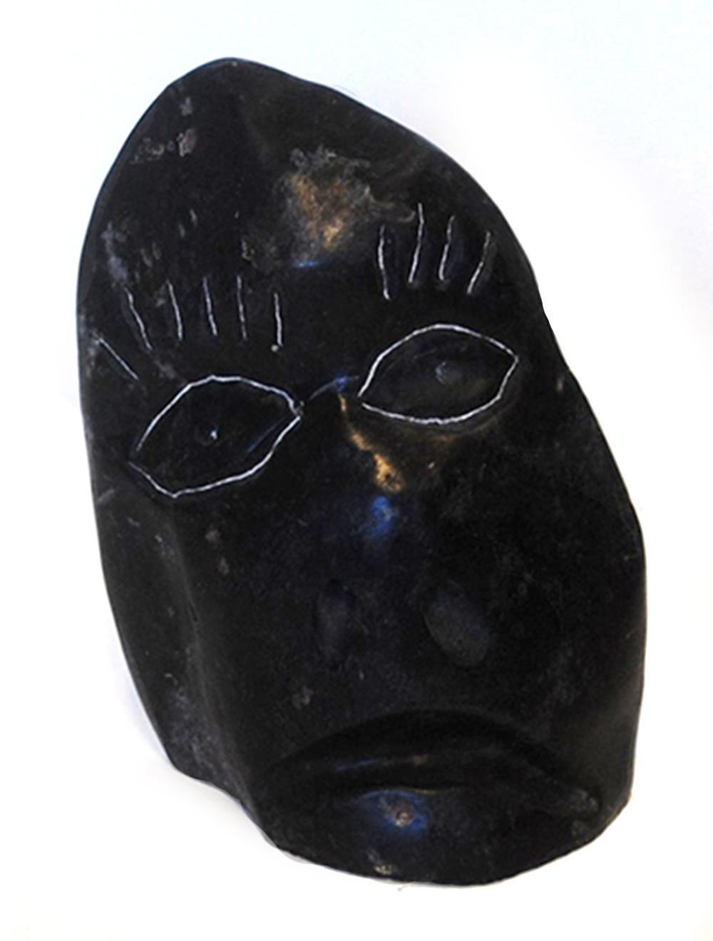 """Albert Qayutinnuaq's """"Face"""" Original Inuit Carving"""