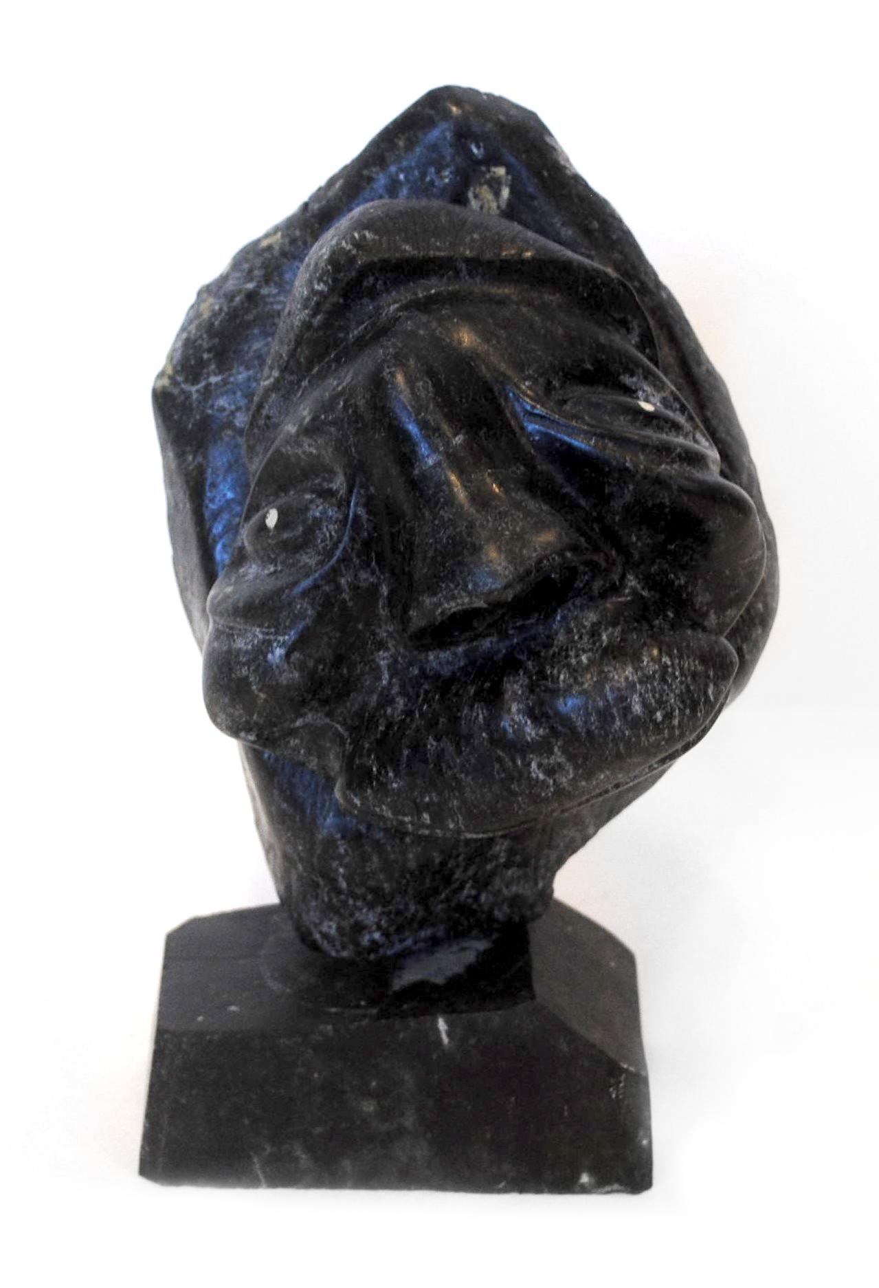 "Charlie Okpik's ""Inuk Face"" Original Inuit Carving"
