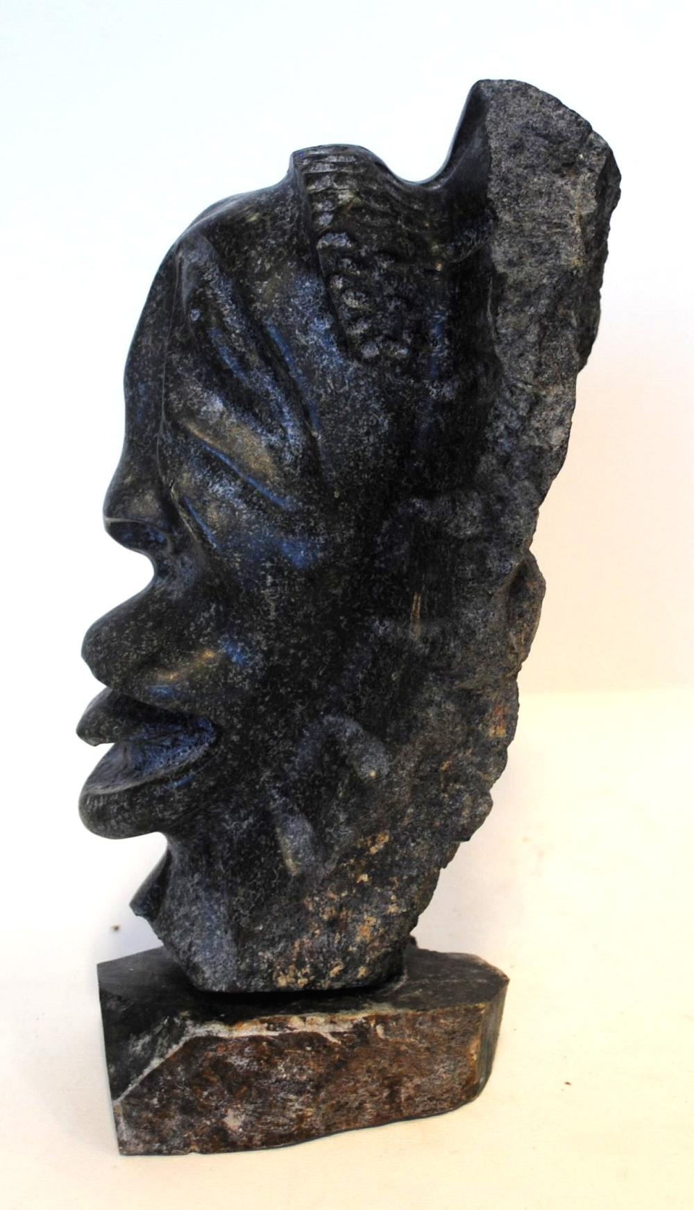 "Charlie Okpik's ""Inuit Head"" Original Inuit Carving"