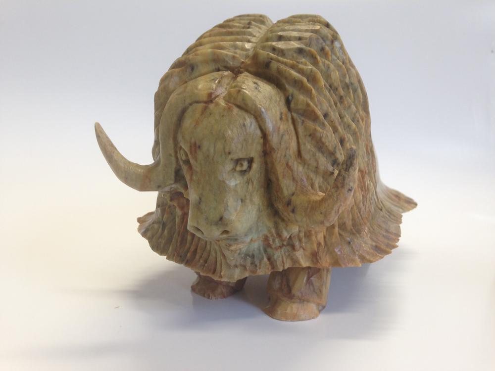 "Bill Nasogoluak's ""Muskox"" Original Inuit Carving"