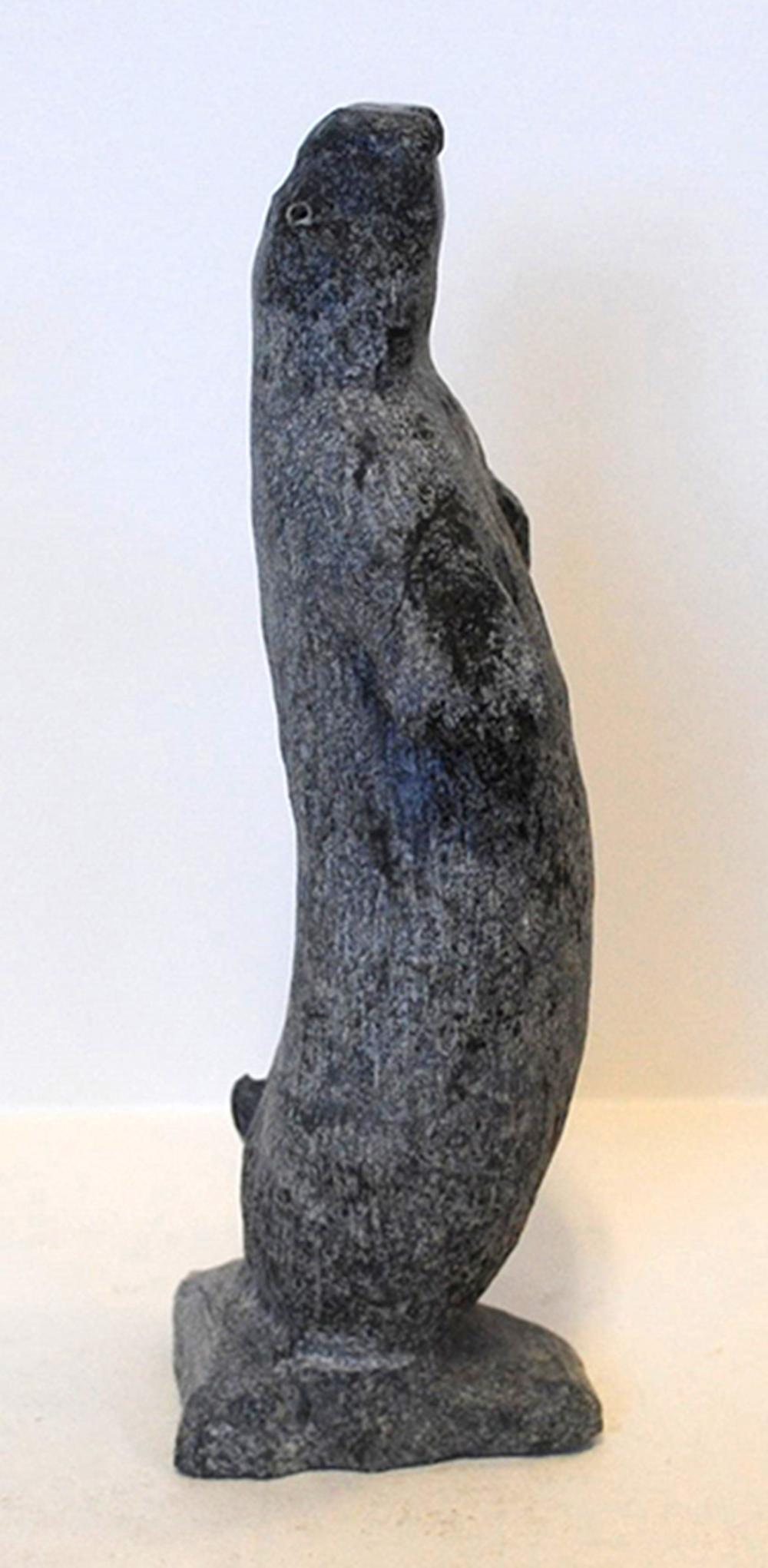 "Gideon Qauqjuaq's ""Dacing Seal"" Original Inuit Carving"
