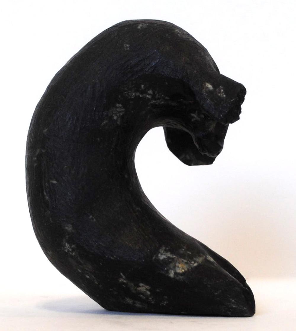 "Gideon Qauqjuaq's ""Seal Transformation"" Inuit Carving"