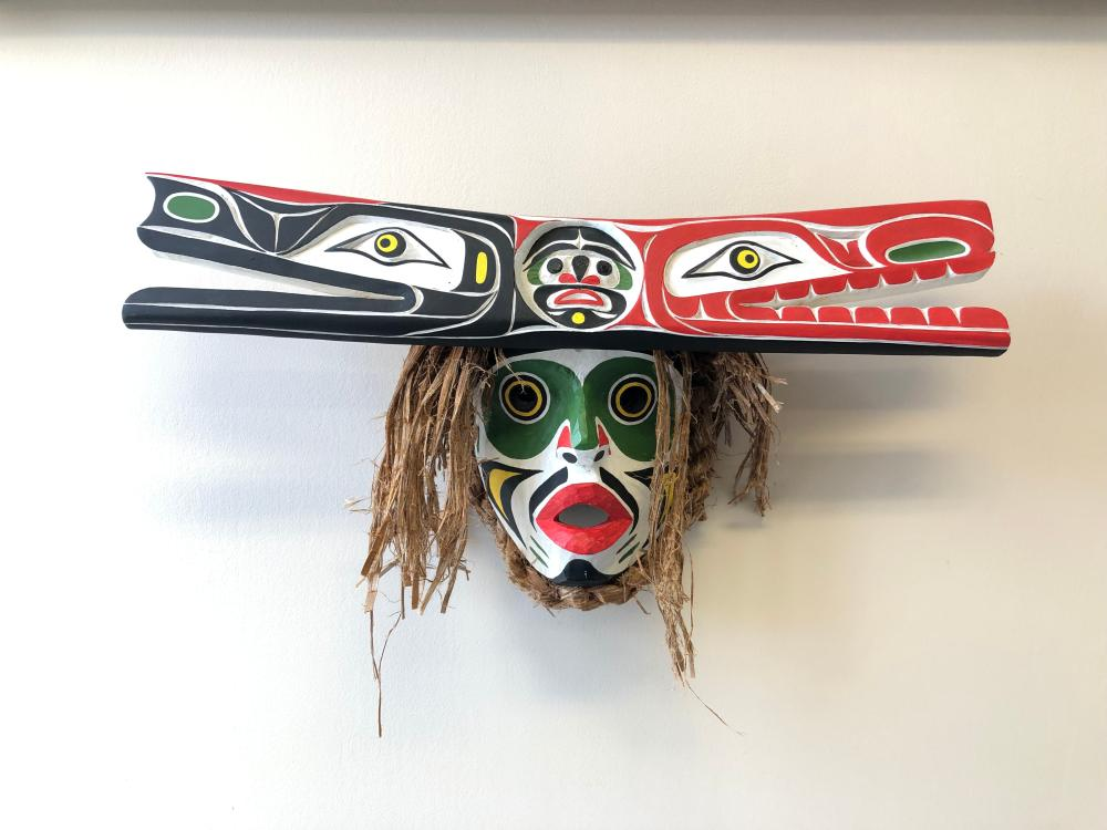 """Marcus Alfred's """"Hawinalat"""" Original Wooden Carved Mask"""