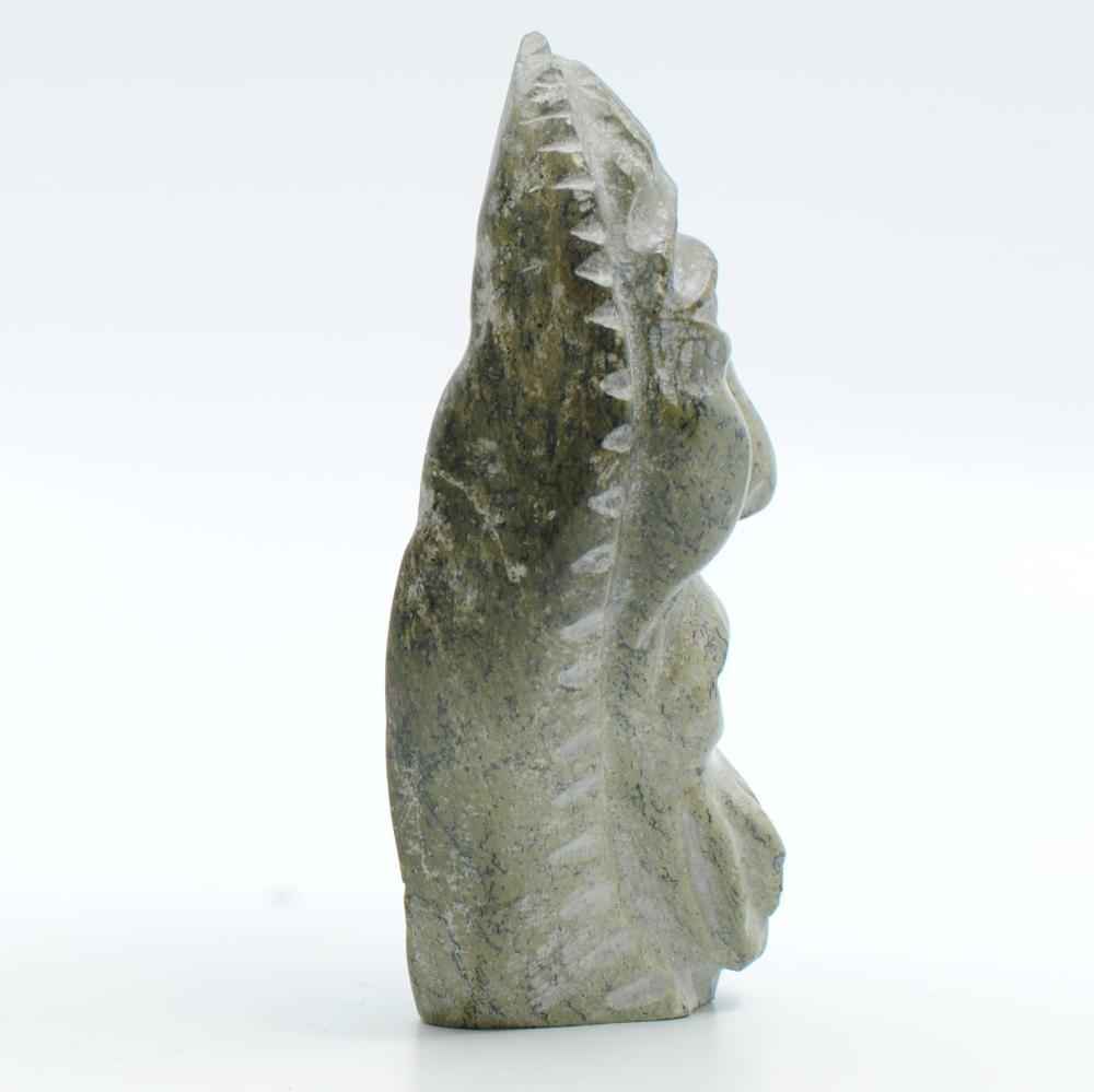 "George Auksaq's ""Walrus Shaman"" Original Inuit Carving"