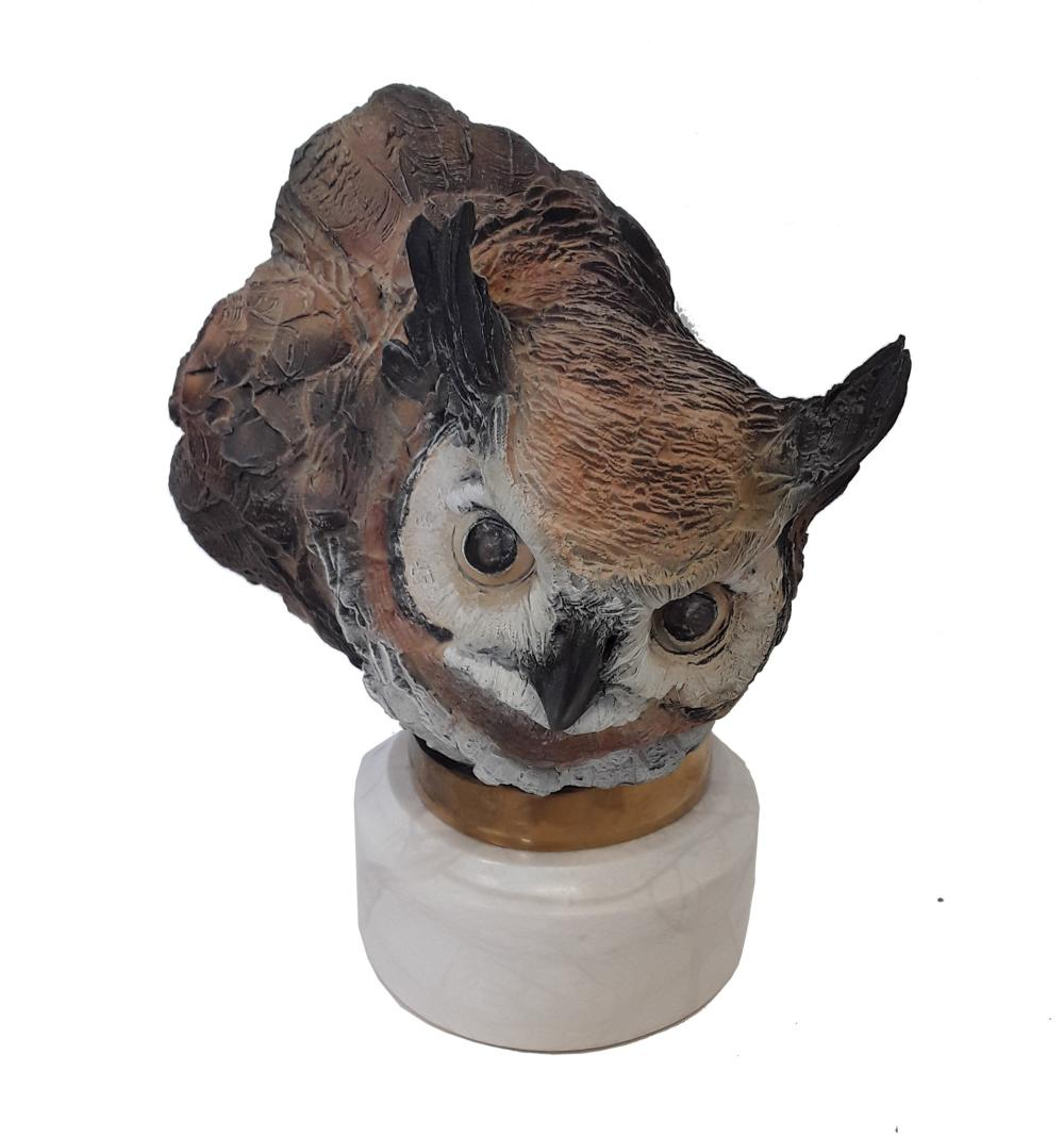 "Chapel's ""Night Rider Great Horned Owl"" Limited Edition Bronze Sculpture"