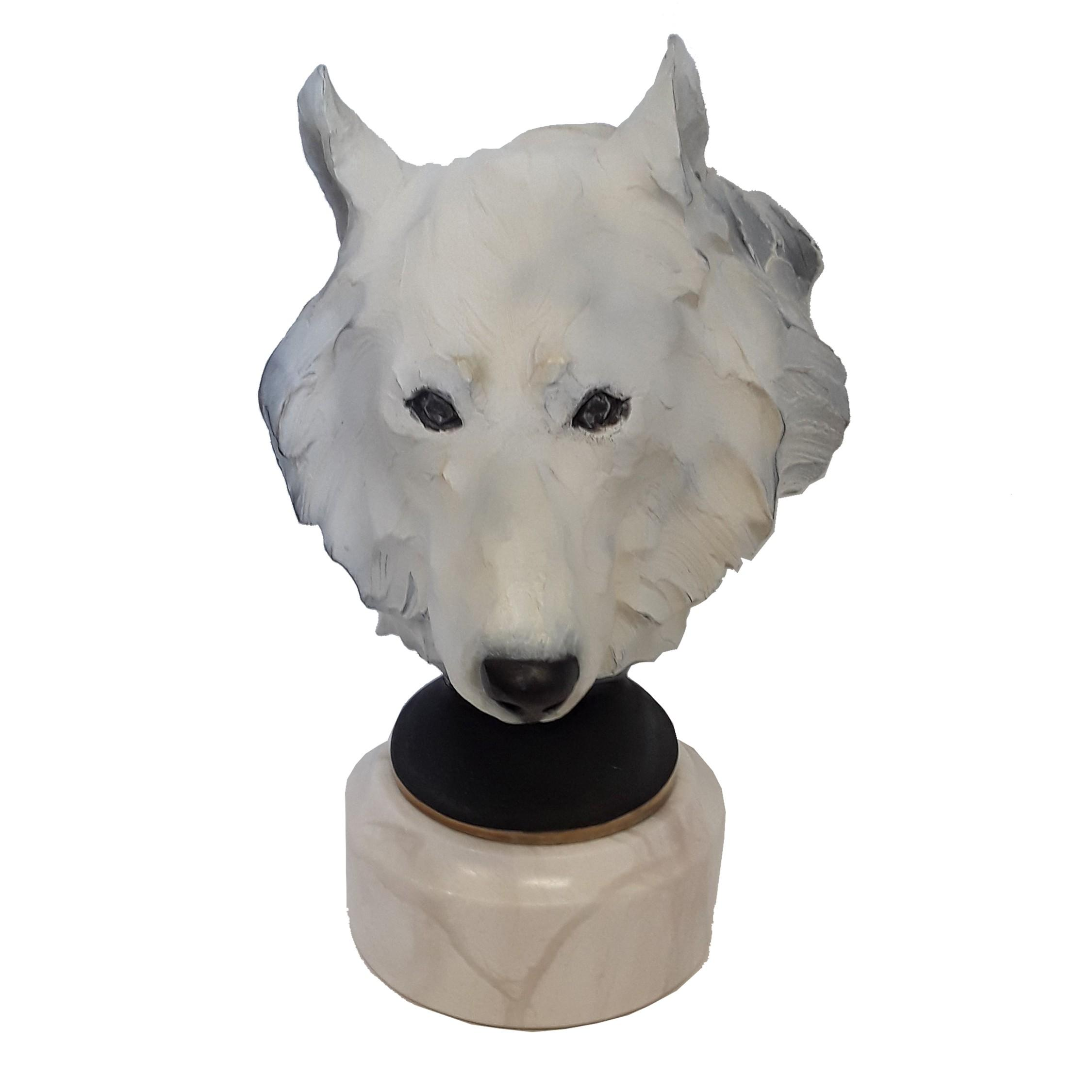 """Chapel's """"Spirit Of The Tundra (Arctic Wolf)"""" Limited Edition Bronze Sculpture"""