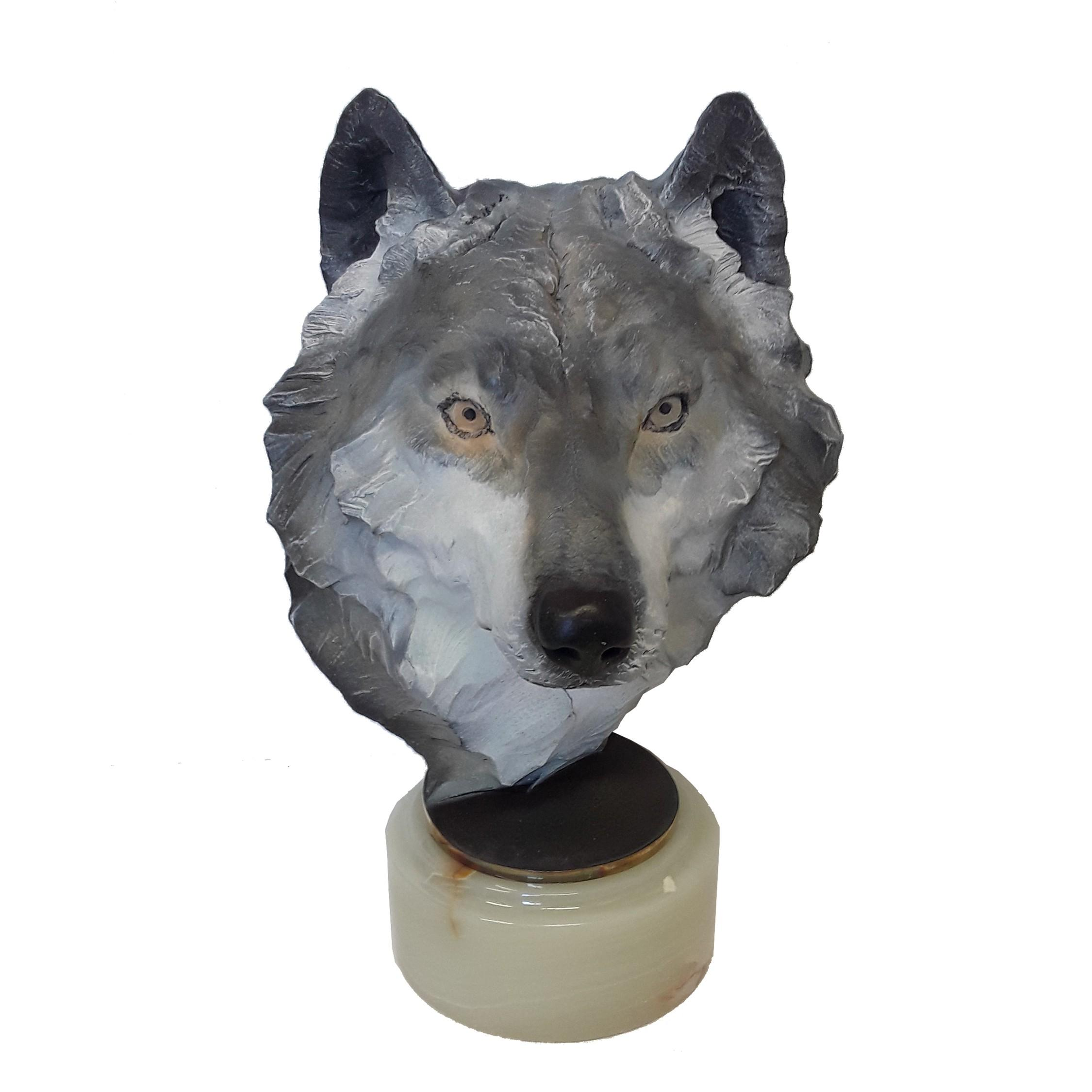 """Chapel's """"Spirit Of The Forest (Grey Wolf)"""" Limited Edition Bronze Sculpture"""