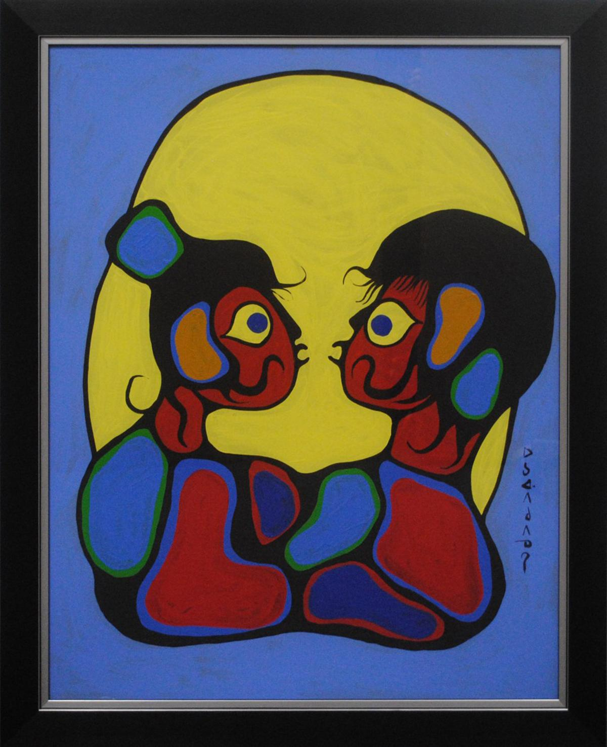 """Norval Morrisseau's """"Brother and Sister"""" Original"""