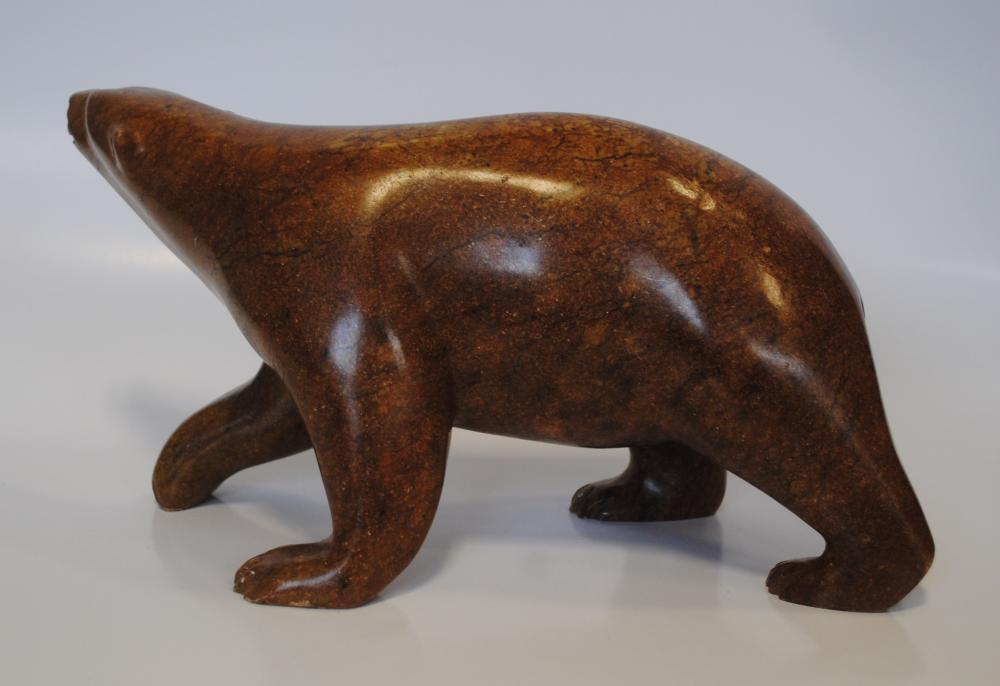 "Bill Nasogoluak's ""Brown Polar Bear"" Sculpture"