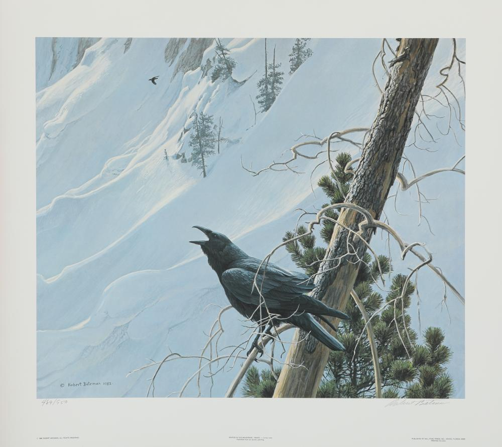 """Robert Bateman's """"Winter in the Mountains - Raven"""" Limited Edition Print"""