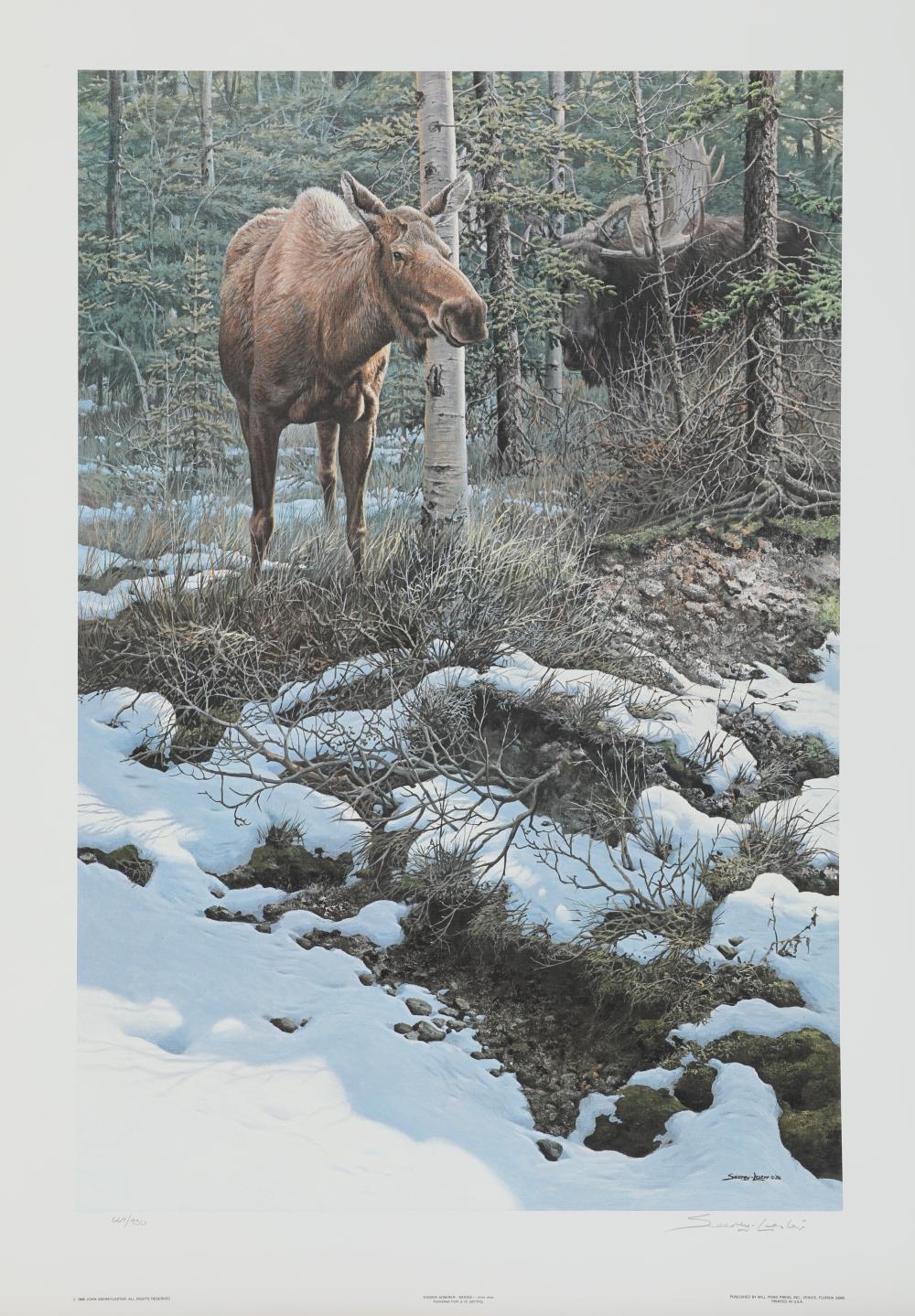 "John Seerey-Lester's ""Hidden Admirer - Moose"" Limited Edition Print"