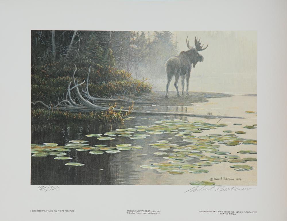 "Robert Bateman's ""Moose at Water's Edge"" Limited Edition Print"
