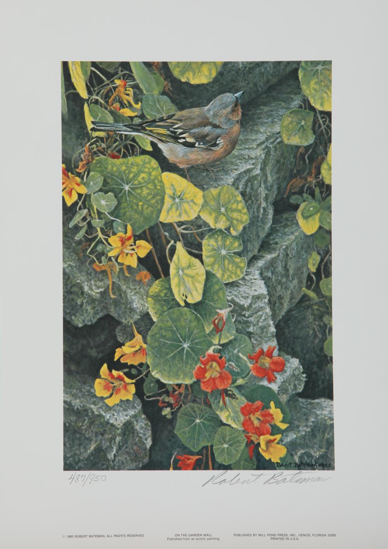"Robert Bateman's ""On The Garden Wall"" Limited Edition Print"