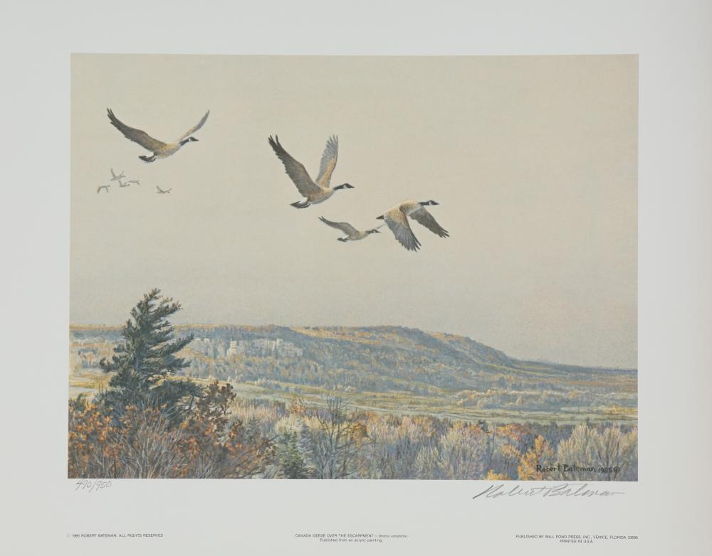 "Robert Bateman's ""Canada Geese Over the Escarpment"" Limited Edition Print"