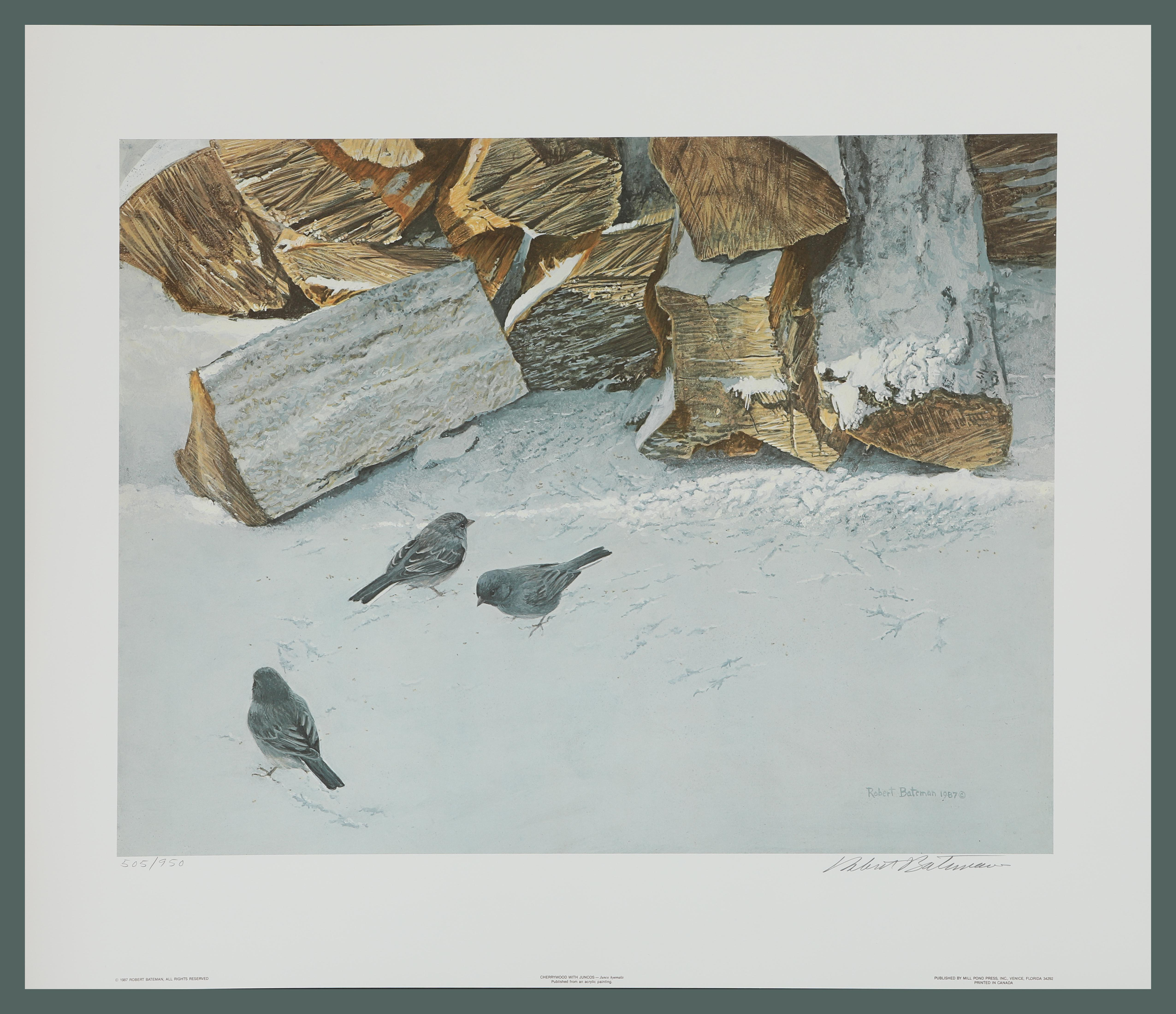 "Robert Bateman's ""Cherrywood With Juncos"" Limited Edition Print"