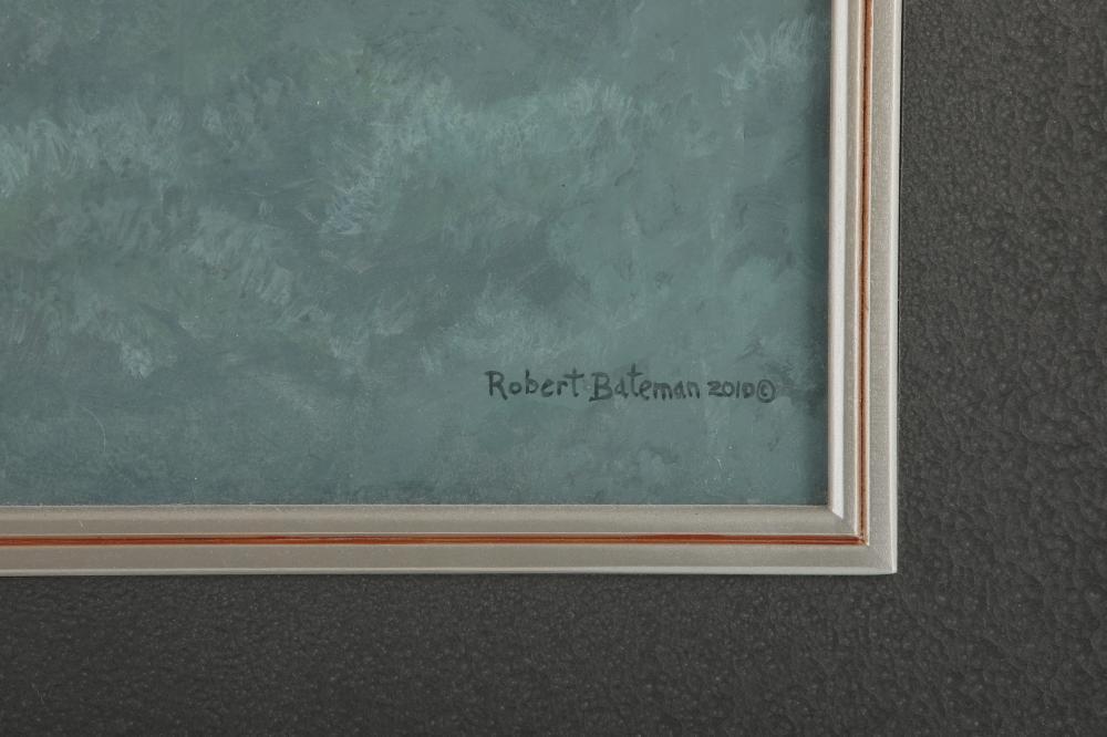 "Robert Bateman's ""Great Blue Heron and White Pines"" Original"