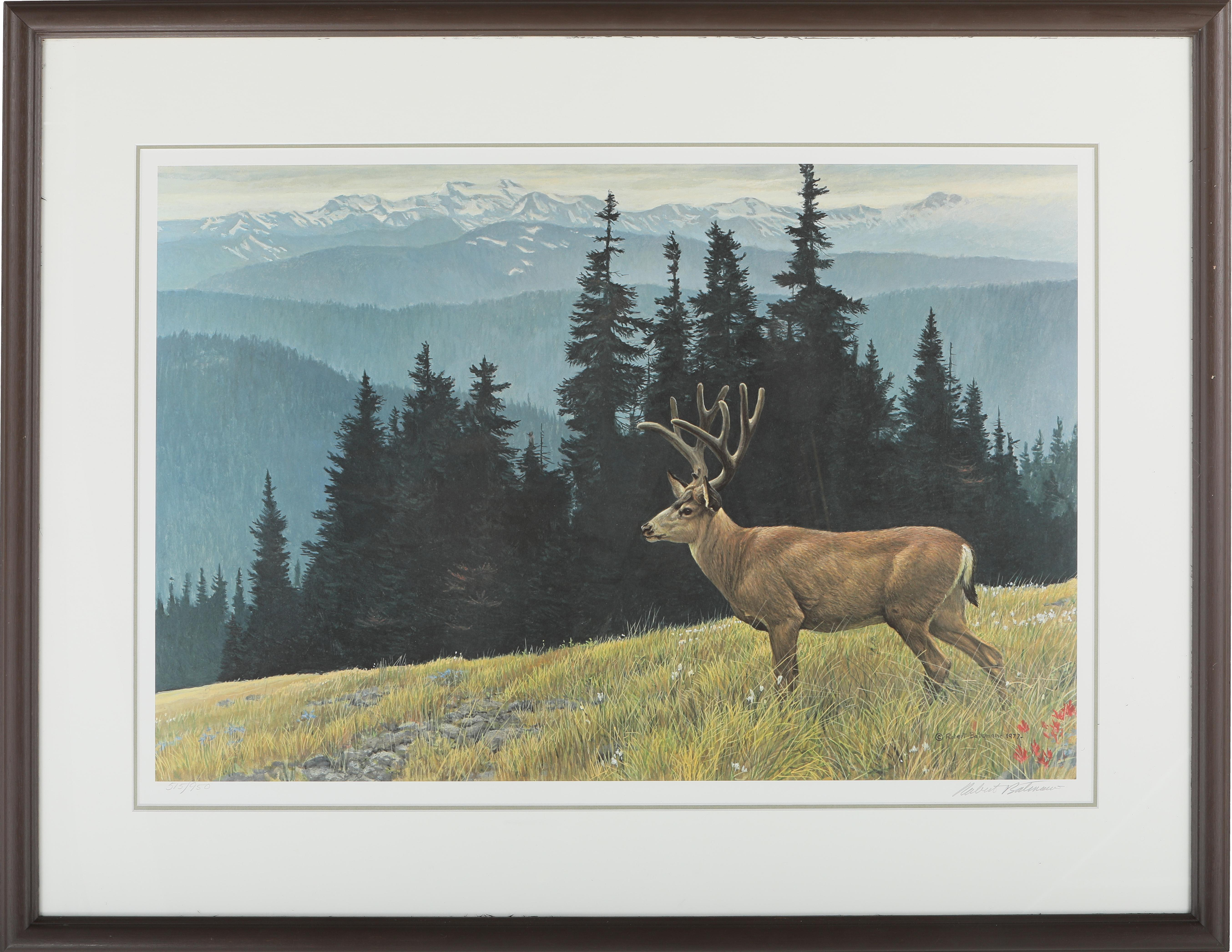 "Robert Bateman's ""Black-Tailed Deer in the Olympics"" Limited Edition Print"