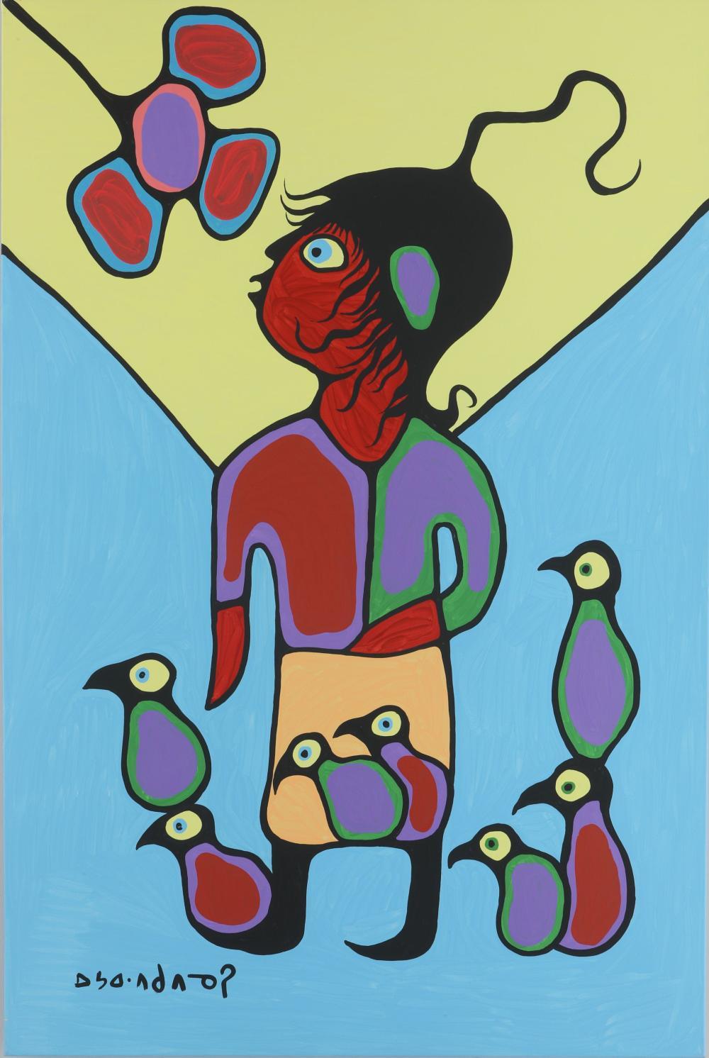 "Norval Morrisseau's ""Bird Child"" Original"