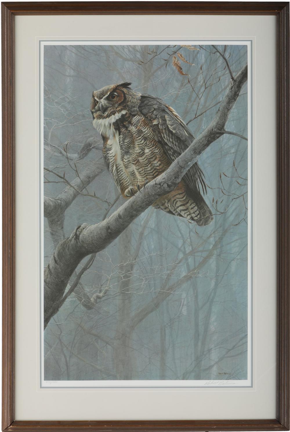"Robert Bateman's ""Winter Mist - Great Horned Owl"" Limited Edition Print"