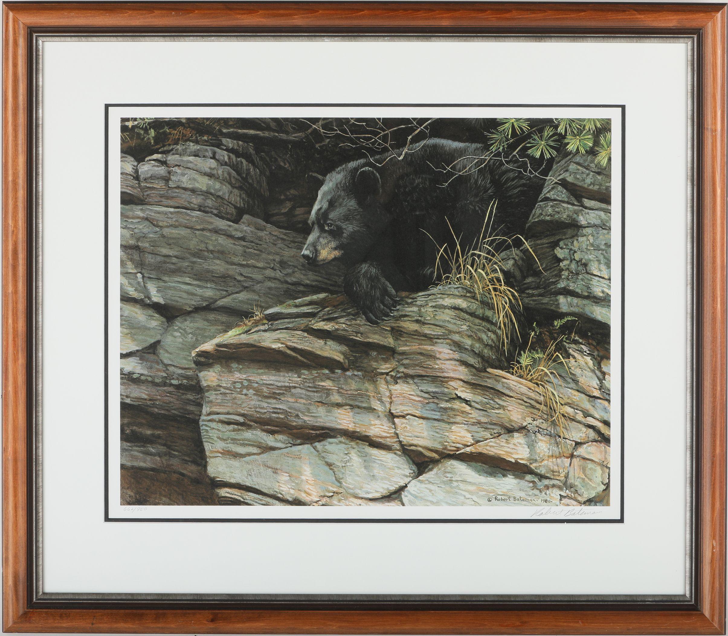 "Robert Bateman's ""Black Bear Repose"" Limited Edition Print"