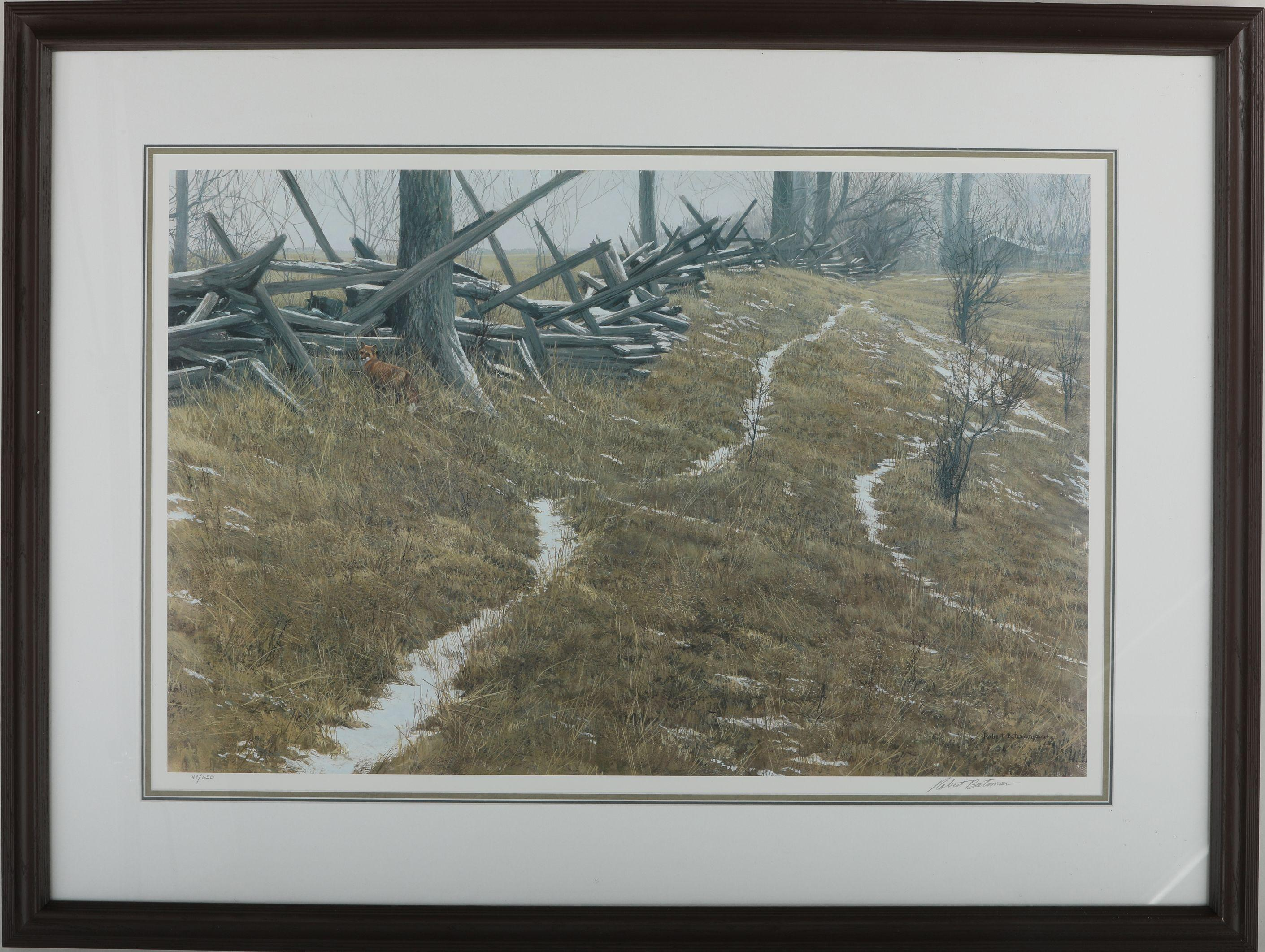 "Robert Bateman's ""Pasture Trails - Red-Fox"" Limited Edition Print"