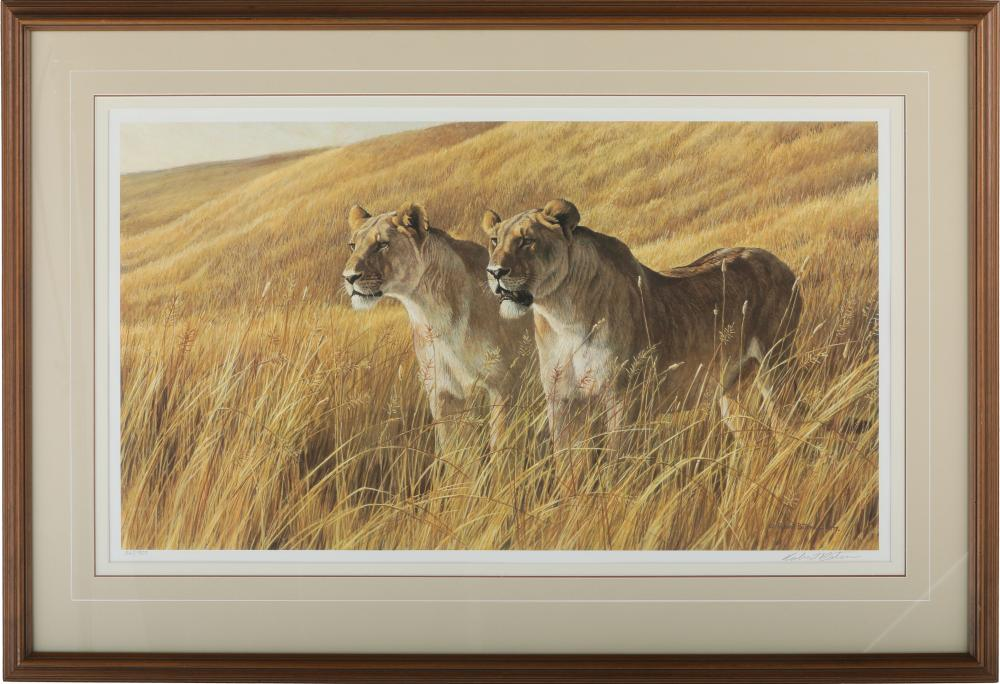 "Robert Bateman's ""African Amber - Lioness Pair"" Limited Edition Print"
