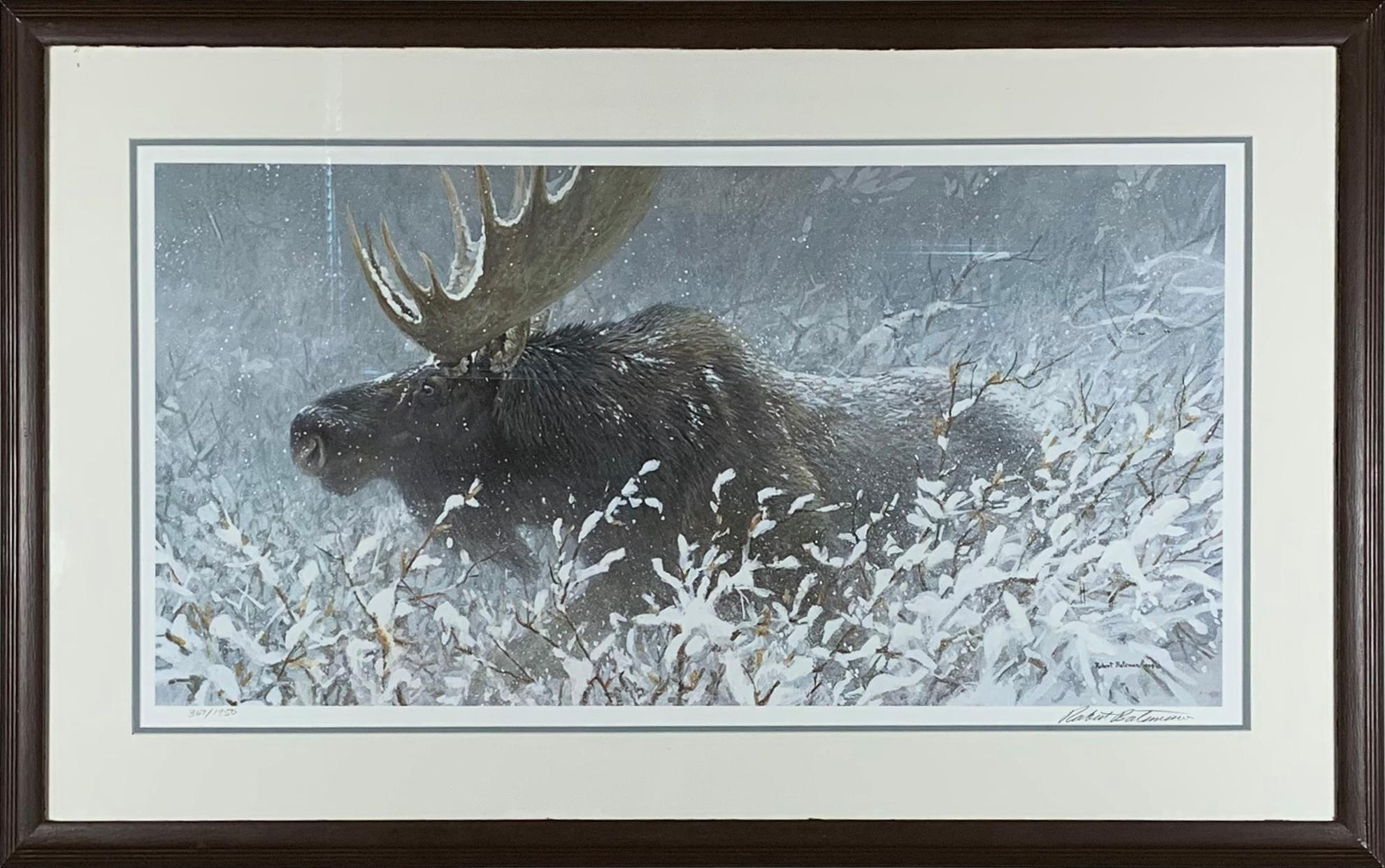 "Robert Bateman's ""Winter Run - Bull Moose"" Limited Edition Print"