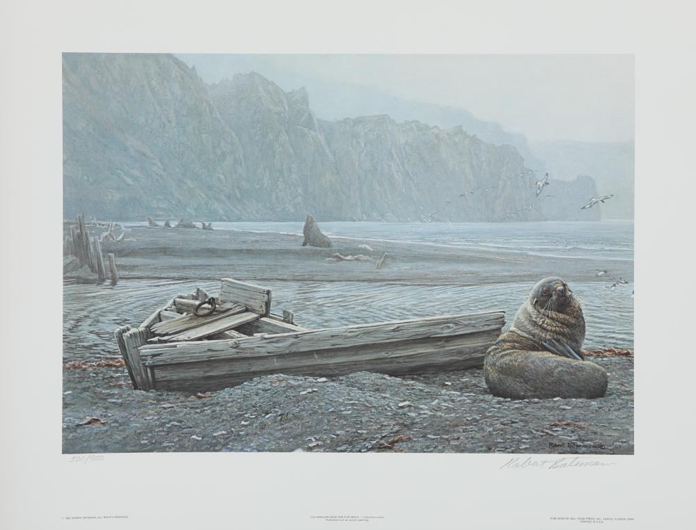 "Robert Bateman's ""Old Whaling Base and Fur Seals"" Limited Edition Print"
