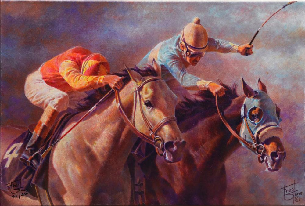 """Fred Stone's """"At The Wire"""" Limited Edition Canvas"""
