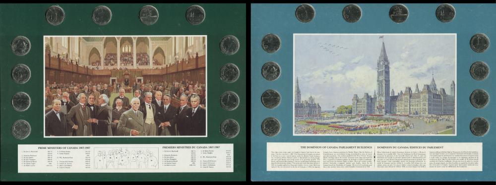 Canada Coin Art Historial Sets w/ 25c B.U. Coins