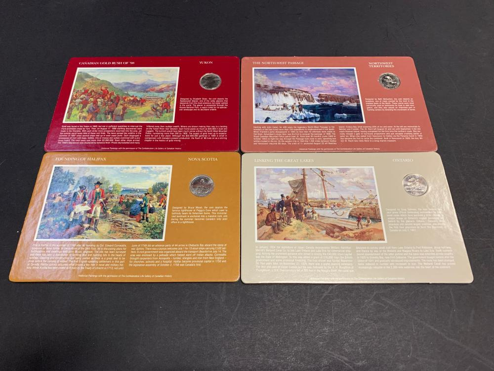 Canada Gallery of Canadian History Coin Set