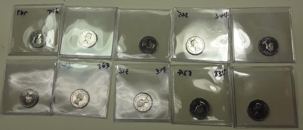 Canada Prooflike 5 Cent Coin Collection